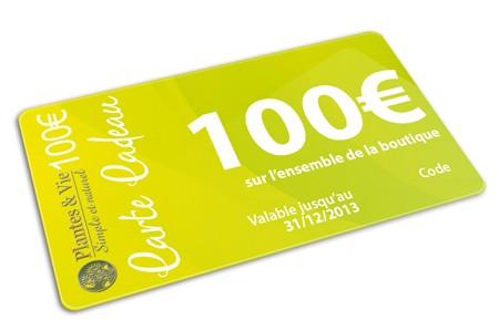 Bon Cadeau Plantes&Vie 100€
