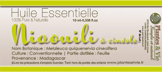 Huile Essentielle de Niaouli à Cinéole
